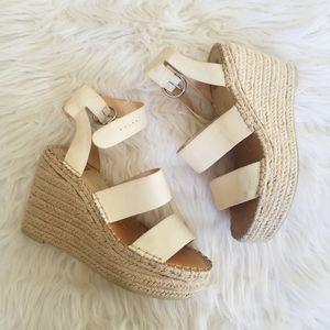Dolce vita shae cream espadrilles wedge sandals